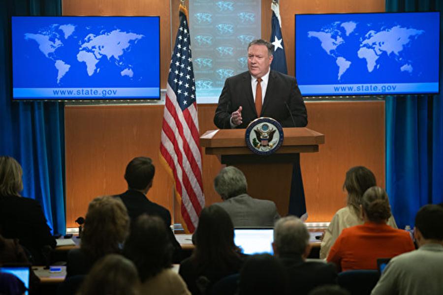 圖為美國國務卿蓬佩奧9月19日表示,美國準備好即刻參與與北韓的無核化談判,且朝鮮半島無核化將於2021年1月完成。 (SAUL LOEB / AFP)