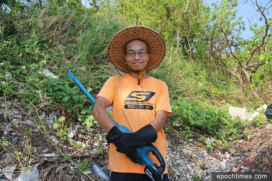 Leo Mak常常在假日參與環保活動。(陳仲明/大紀元)