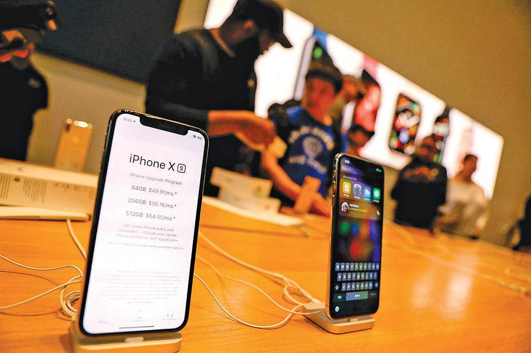 蘋果發售iPhone XS和XS Max以來,北美的用戶發現充電和拍照存在一些問題,紛紛投訴。(Spencer Platt/Getty Images)