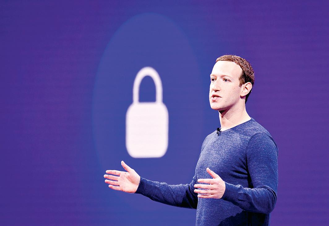 Facebook創始人Mark Zuckerberg的帳戶也遭黑客入侵。(JOSH EDELSON/AFP/Getty Images)
