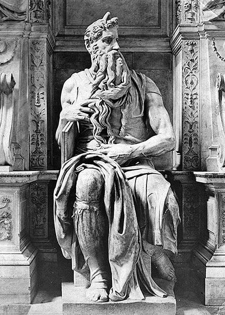 《摩西》,米開朗基羅,1515年。(Hulton Archive/Getty Images)