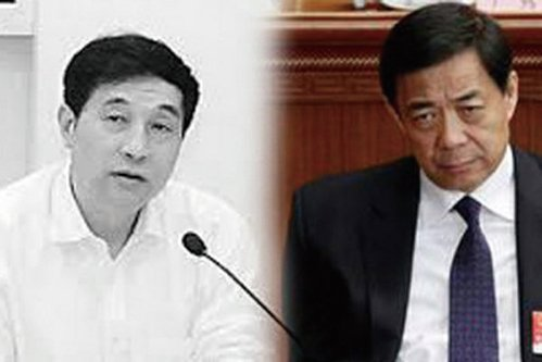 吳文康(左)和薄熙來(網絡圖片)