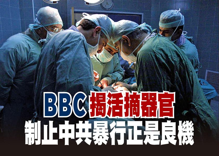 BBC揭活摘器官 制止中共暴行正是良機