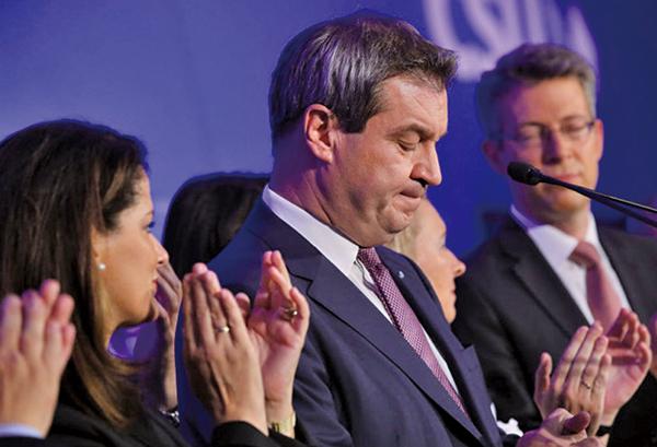 德國地方選舉基社黨與社民黨失利