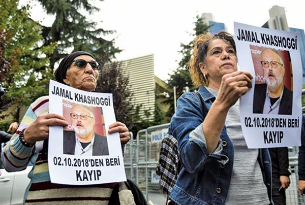 知名記者卡舒吉在沙特駐土耳其領事館離奇失蹤。(AFP)