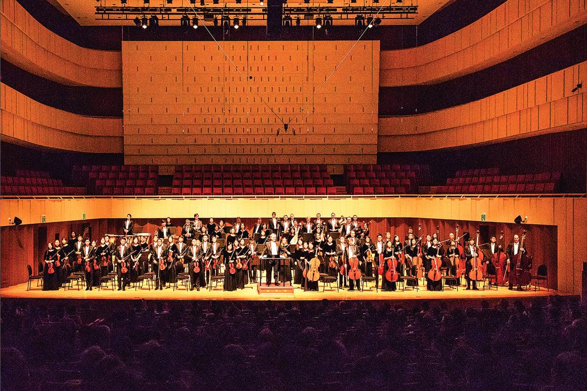 9月30日下午,神韻交響樂團在韓國大邱演出。(全景林/大紀元)
