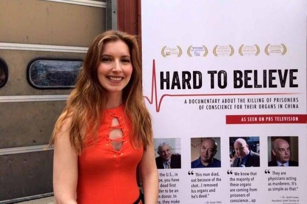 霍博肯國際電影節的副導演歐莉安娜・迪阿寇斯蒂諾(Oriana D Agostino)。(明慧網)