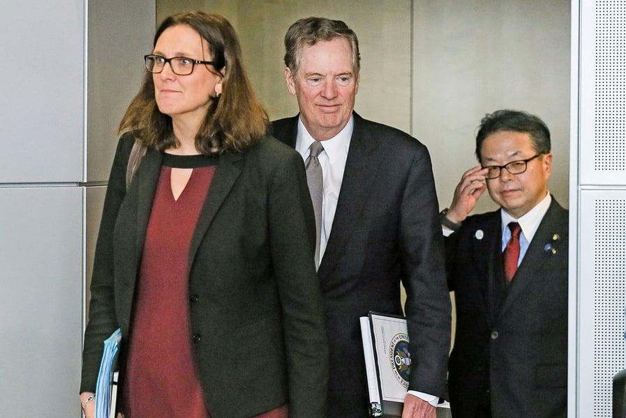 美將與歐日英進行貿易談判