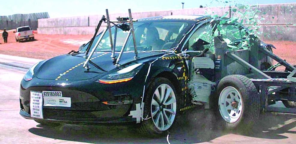 特斯拉Model 3  被評為最安全車款