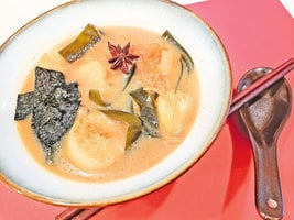 蘿蔔海帶小魚乾湯