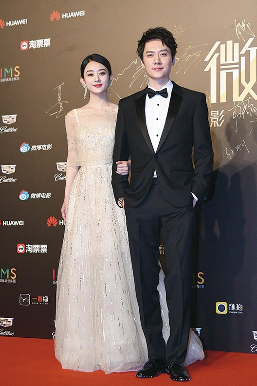 趙麗穎(左)與馮紹峰。(大紀元資料室)