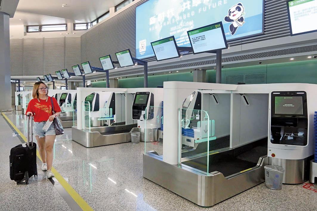 上海虹橋機場近日啟用臉部識別技術自助登機,引侵害私隱疑慮。(大紀元資料室)