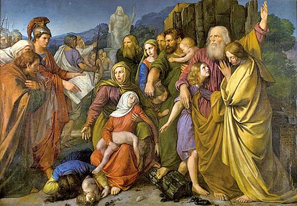 領導反抗希臘人的《馬加比家族》W. Stattler,1844。(公有領域)