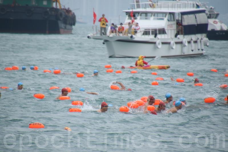 維港渡海泳 台灣選手破紀錄奪冠