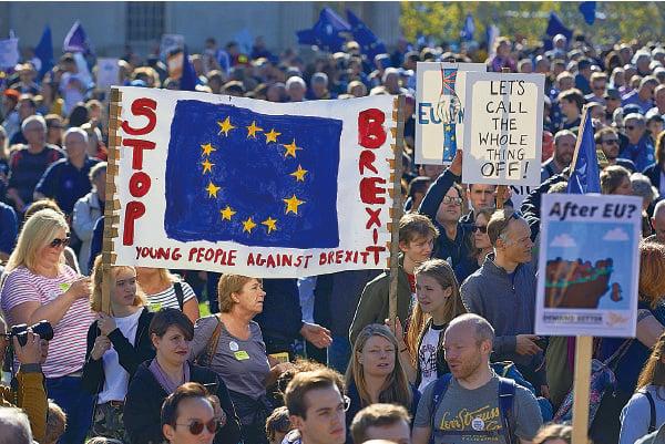 七十萬人倫敦遊行 本世紀英國第二大遊行 籲第二次「脫歐」公投