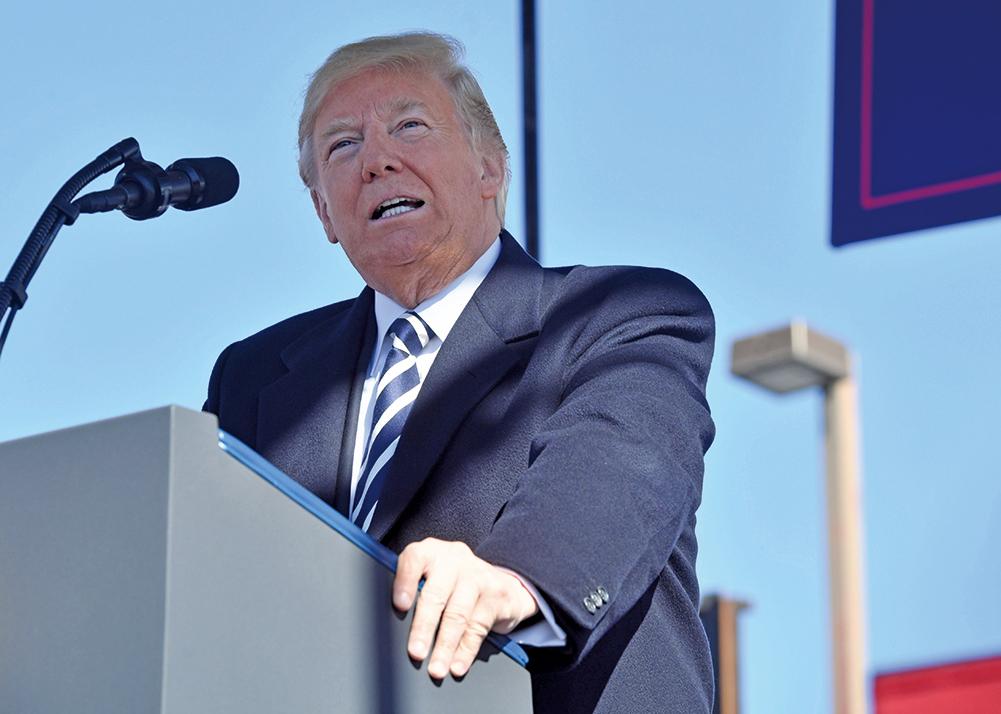美國總統特朗普正在研究對中產階級的重大減稅政策。(AFP)