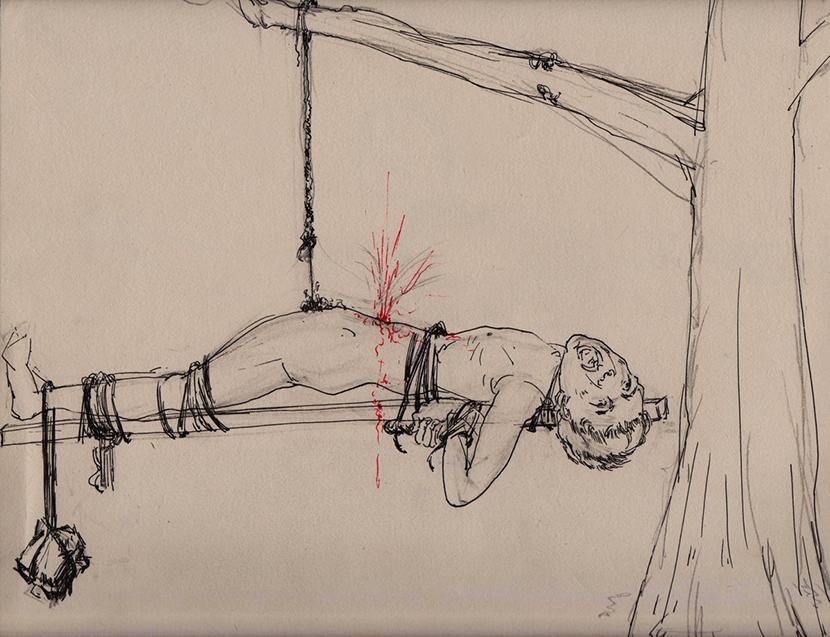 「稱稈」酷刑。(民主中國)