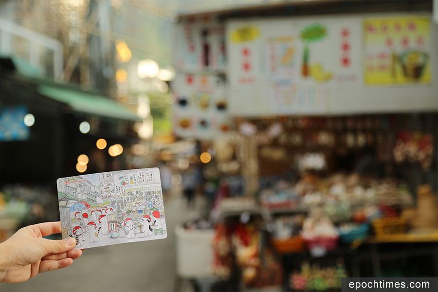 Mango常常遊走香港各處的社區,拍照後再進行手繪創作。(陳仲明/大紀元)