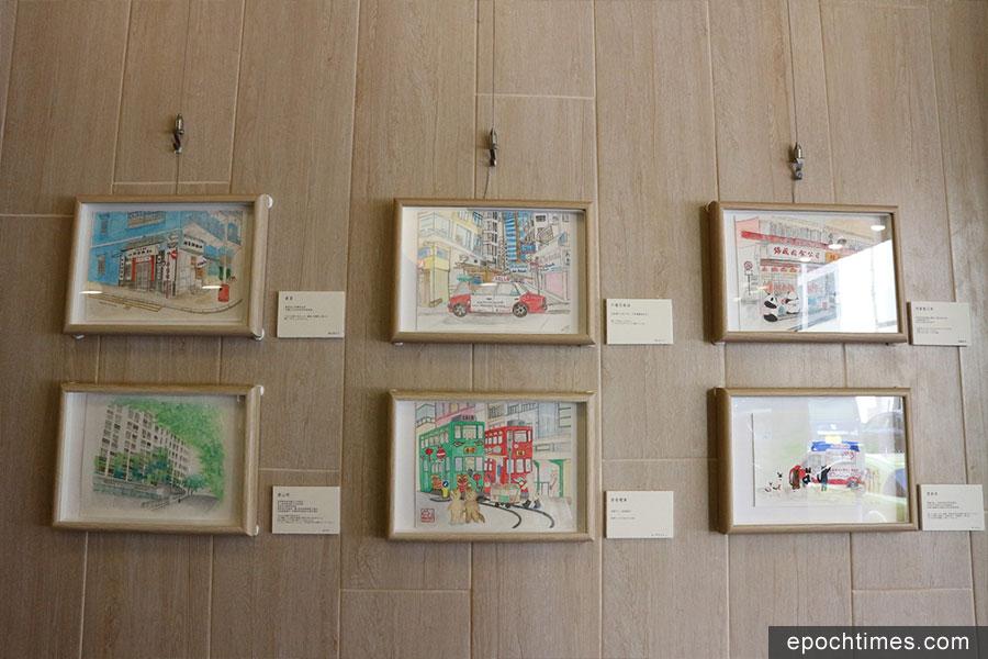 今年春天,「鴛鴦茶會」首次舉辦了學生畫展。(受訪者提供)