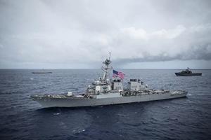 台國防部:兩艘美國軍艦航經台灣海峽