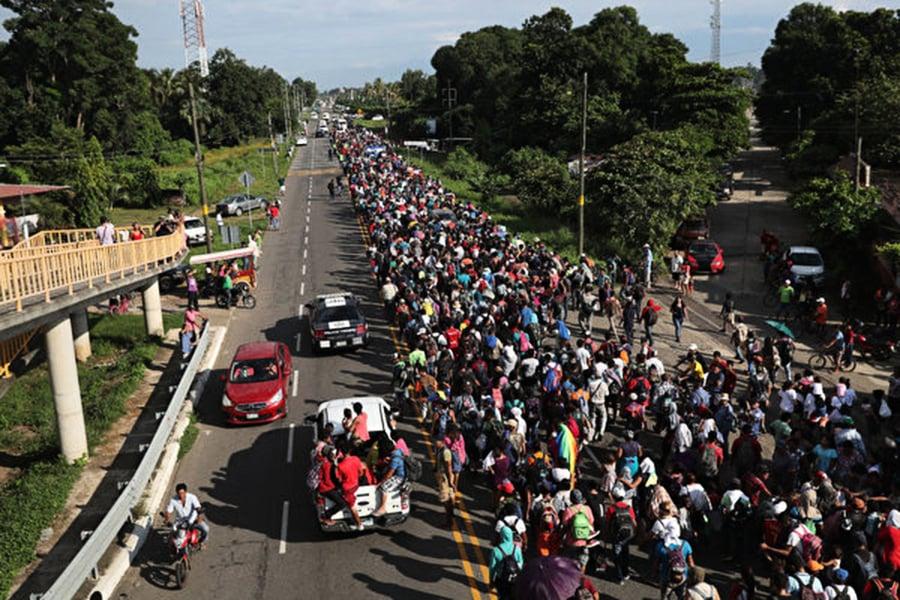 逾7000移民前往美邊境 特朗普批評中美洲國家