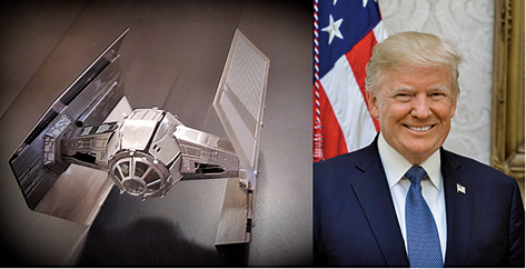 美國總統特朗下令五角大樓開始籌建美國太空軍,並將其定位為第六軍種。(大紀元合成圖)