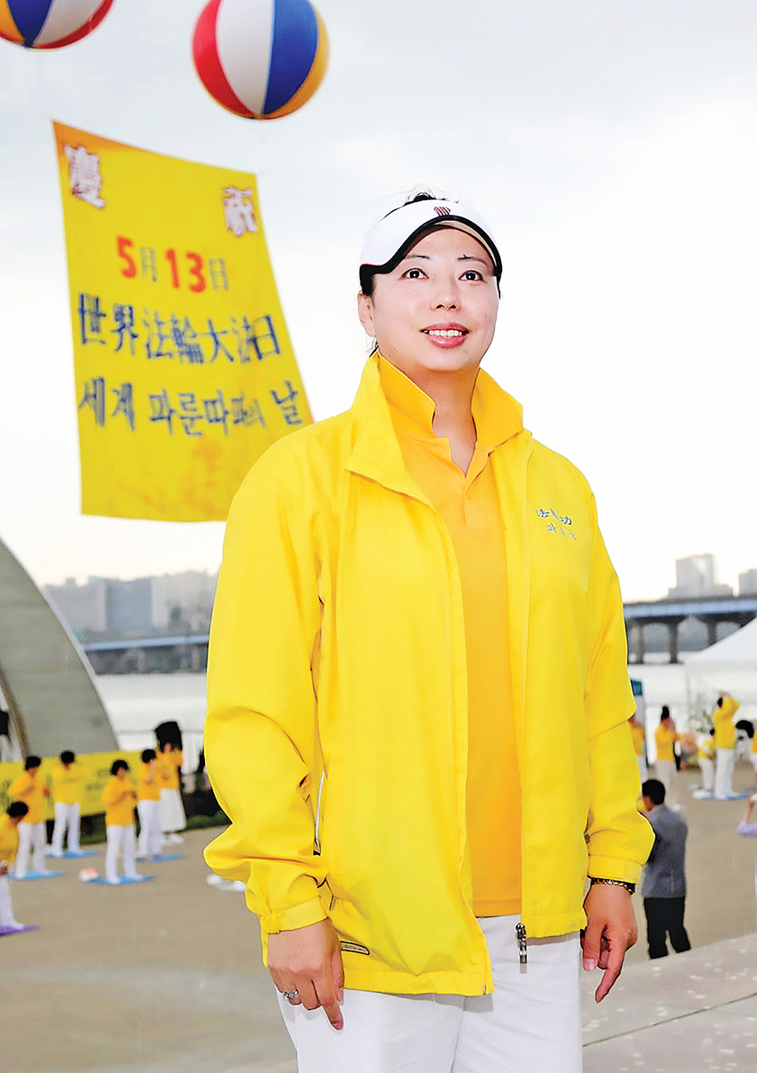 前奧運游泳名將黃曉敏。(明慧網)