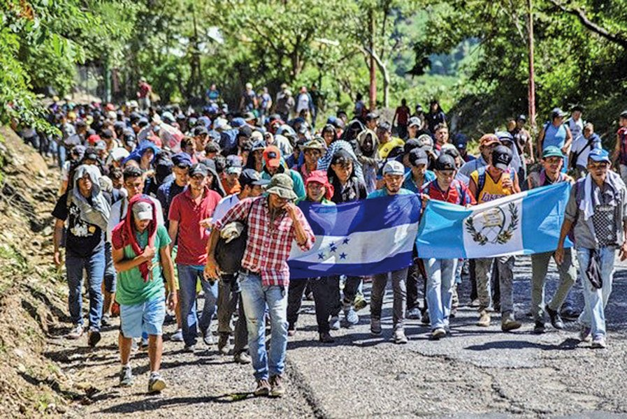 第二波大篷車難民向墨西哥進發