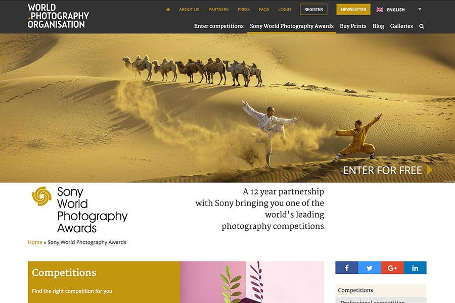 索尼世界攝影大賽得獎者和入圍者的作品,將作世界巡迴展覽。(World Photography Organisation官方網頁擷圖)