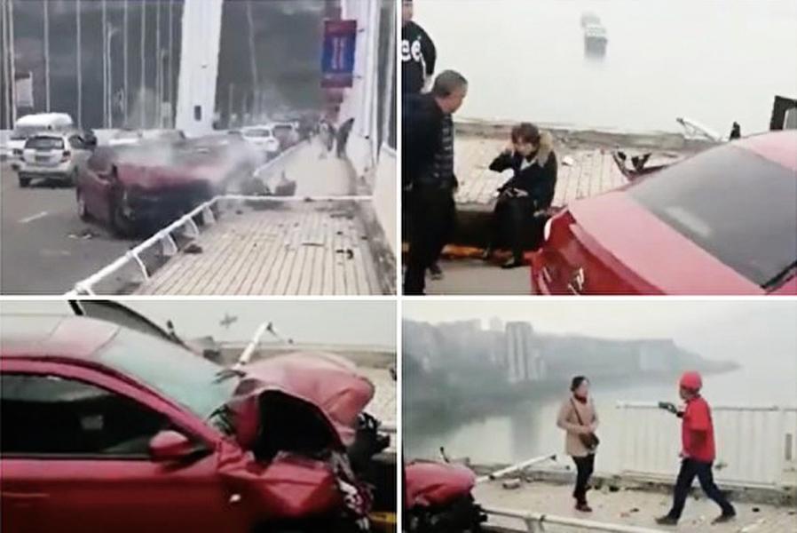 重慶大巴墜江  二死二十多人失蹤