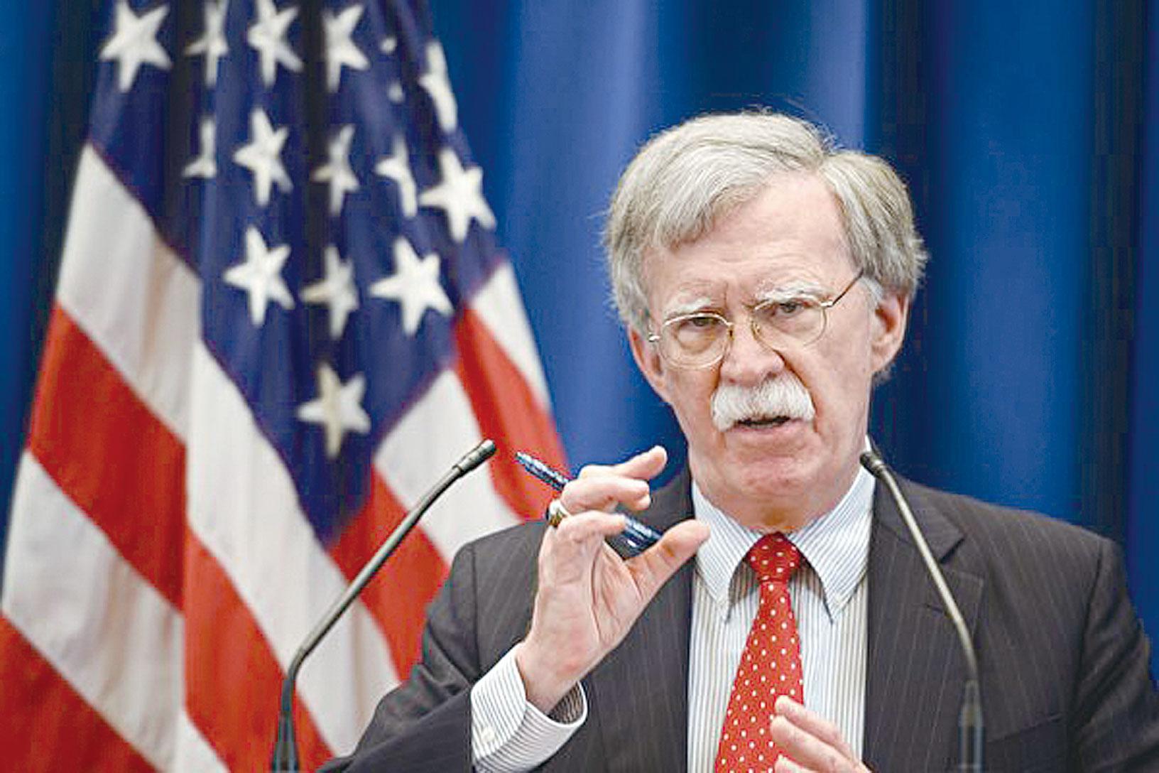 美國國家安全顧問波頓22日對《華爾街日報》說,中國(共)、伊朗和北韓不受《中導條約》的約束。美國估計,如果中共是這個條約的一方,那麼中共所有彈道導彈的1/3到一半都將違反該條約。(Fabrice COFFRINI / AFP)
