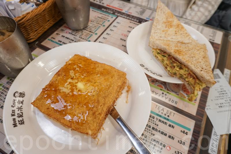 這次點了兩個下午茶餐,一個麥包三文治四重奏,以及流心芝士麥包西多士。