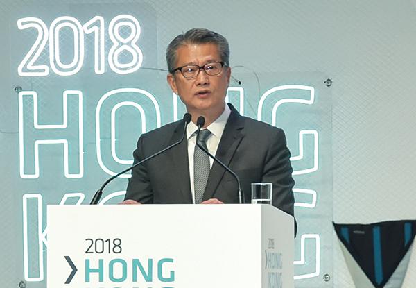 財政司司長陳茂波表示,本年底將發出首個虛擬銀行牌照,而銀行業開放應用程式介面(API)框架的工作亦正在進行中。(郭威利/大紀元)