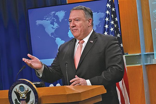 美國國務卿蓬佩奧警告中共,在商業上行為要表現得像一個正常的國家,並尊重國際法。(Getty Images)