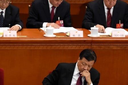 6月28日,習近平主持召開中央政治局會議,審議通過了「問責條例」。有分析認為,這也凸顯劉雲山的權力再被削弱。(Getty Images)
