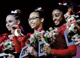 美國體操女隊世錦賽四連冠 二成員是中國孤兒