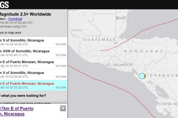 尼加拉瓜發生6.1級地震 鄰國也跟著晃