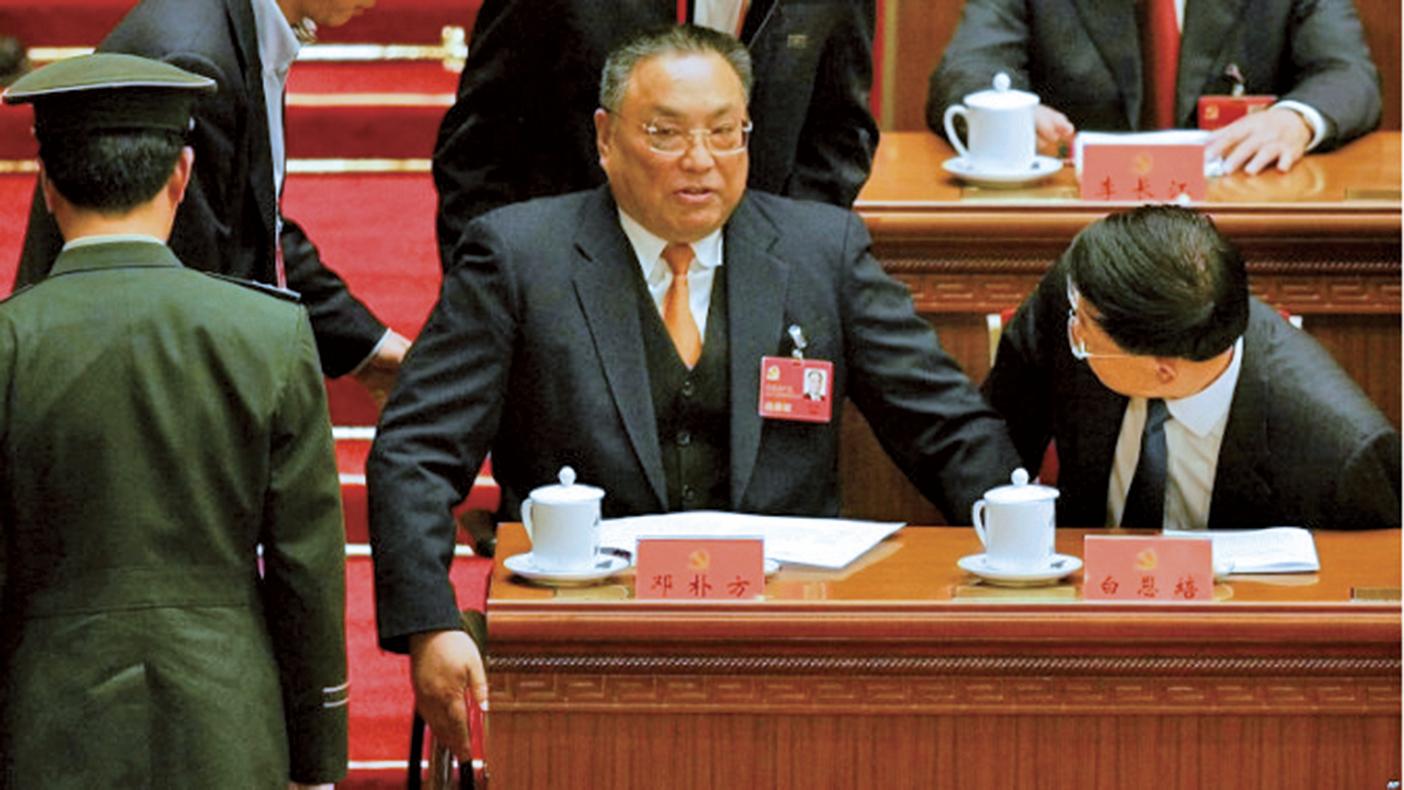 2007年10月15日,鄧小平的兒子鄧樸方出席在北京大會堂舉行的第十七屆中黨代會開幕式。(Getty Images)