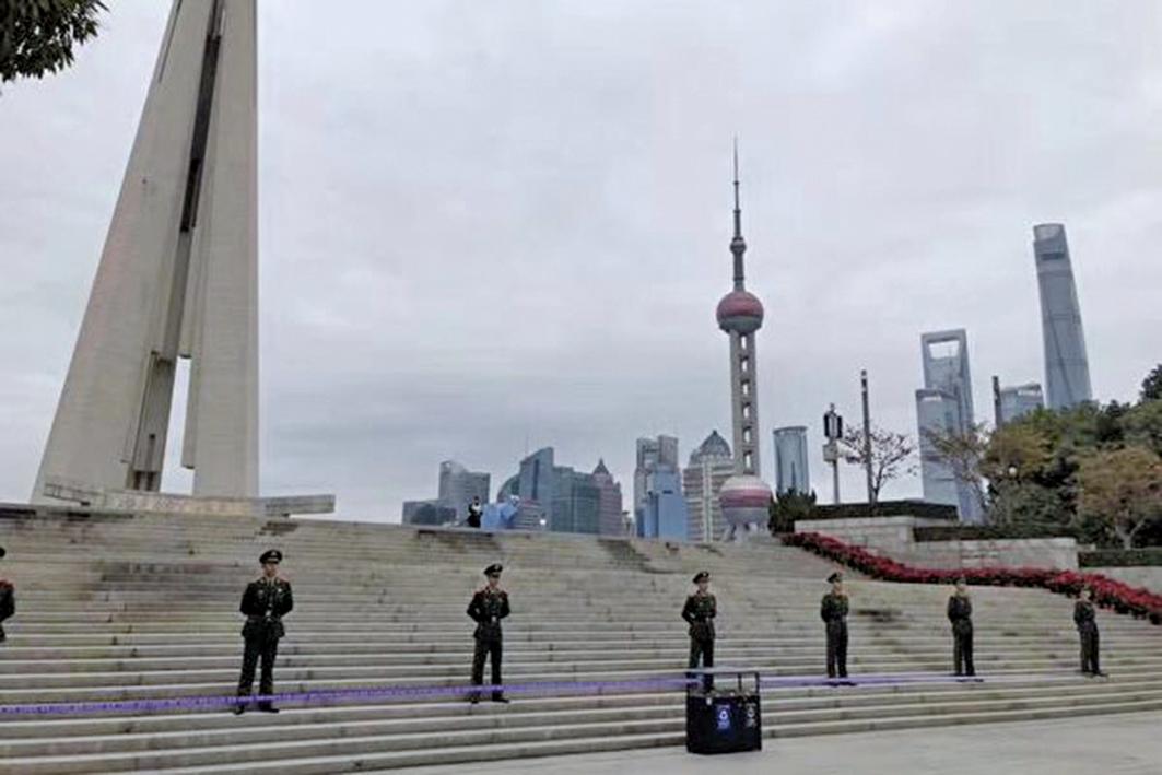 進博會開幕,上海草木皆兵。(大陸網友)