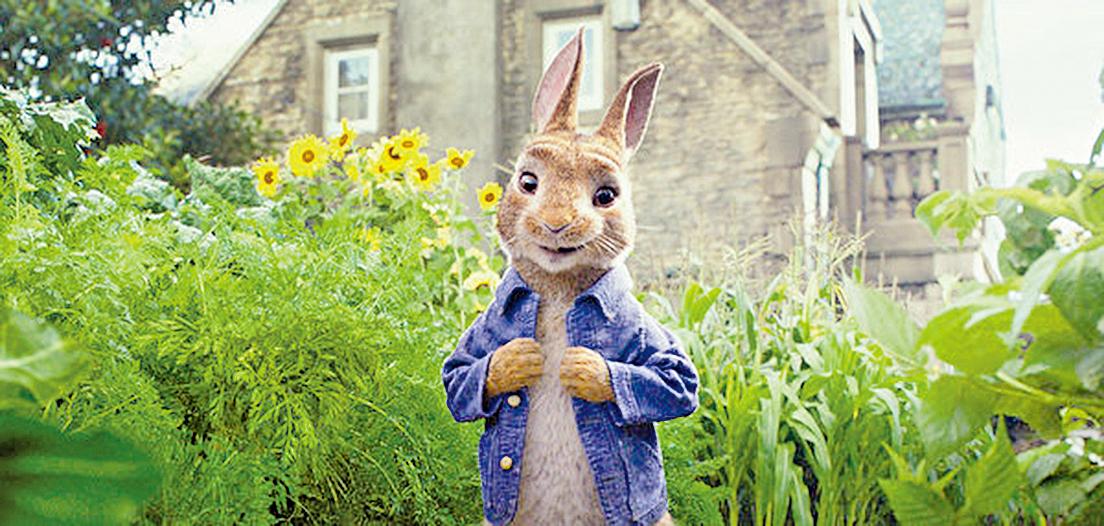 比得兔身上的藍色襯衫是父親留下來的遺物,他不懼危險將它拿回時差點受到人類殺害(索尼影業提供)