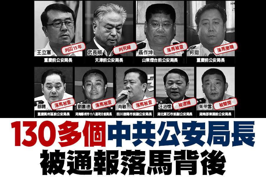 130多個中共公安局長 被通報落馬背後