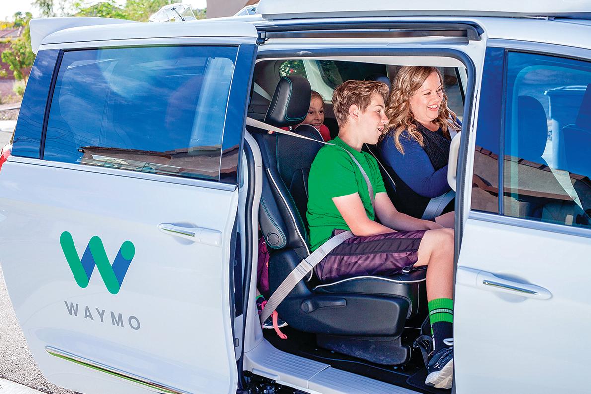 Waymo在亞利桑那州鳳凰城邀請民眾自願參加自駕車試乘計畫。(Waymo)