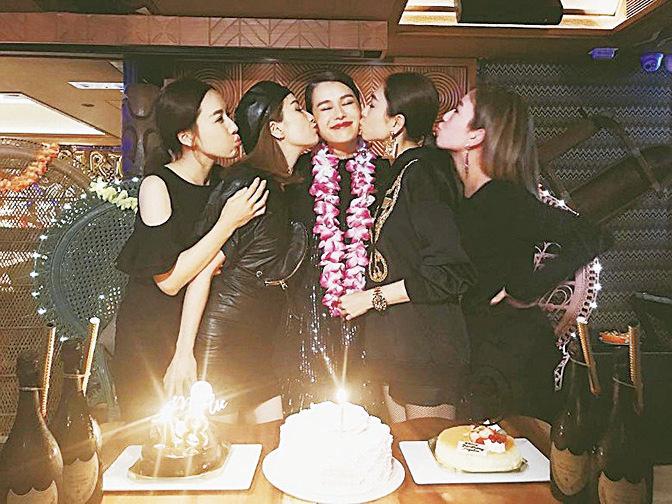胡杏兒39歲生日 與老公及摯友一起慶祝