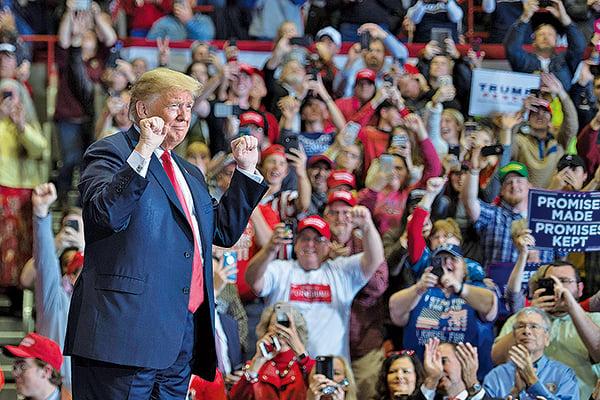 儘管特朗普的名字不在選票上,但他無疑是今年中期選舉的真正主角。(AFP)