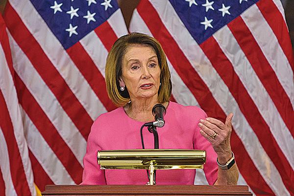 眾議院民主黨領袖佩洛西7日表示,有責任與共和黨合作。(Getty Images)