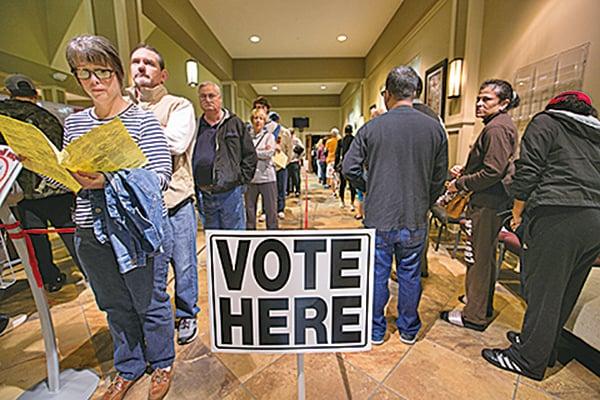 共和黨在農業州及鐵鏽州的鐵票倉,多數屹立不搖,不擔心貿易戰。(Jessica McGowan/Getty Images)