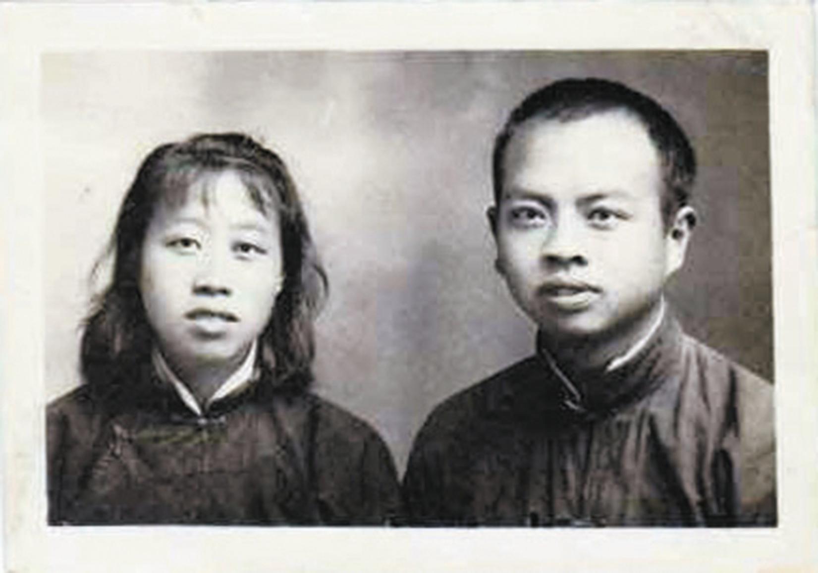 王方名夫婦早年合照。(網絡圖片)