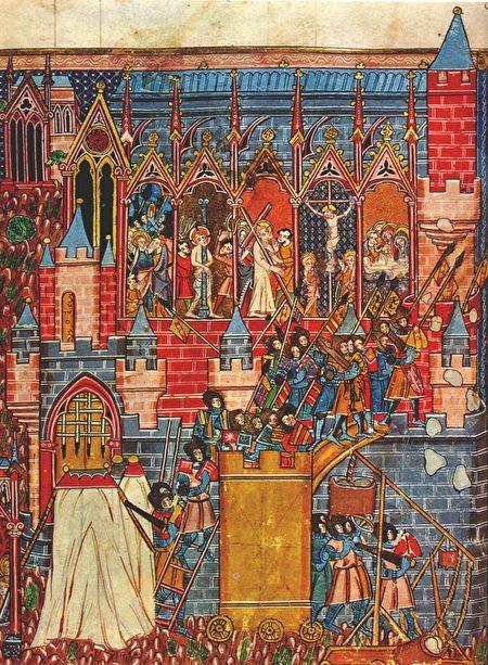 第一次十字軍東征的耶路撒冷圍攻戰。(公有領域)