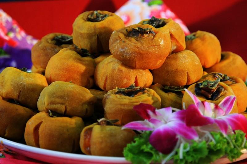 利用傳統古法製作,香Q好吃的柿餅。(許享富/大紀元)