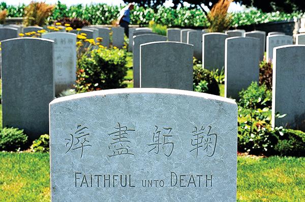 一戰時15萬中國勞工前往歐洲,其中2萬多人付出了生命。(AFP)